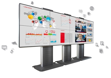 """Picture of 2 x 2 55"""" Basic Wallmount IVD Video Wall Display"""