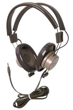 "Picture of 1/4"" Mono Plug Binaural Headphone, Gray/Beige"