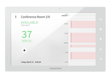 """Picture of 10.1"""" Room Scheduling Touch Screen, White Smooth"""