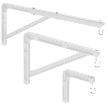 Picture of #23 WALL BRACKET BLACK -- Mounting and Extension Brackets (#23 Wall Bracket Black)