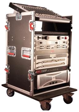 Picture of 10U Top, 12U Side Audio Road Rack Case