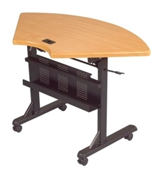 Picture of 1/4 Round Flipper Table, Teak