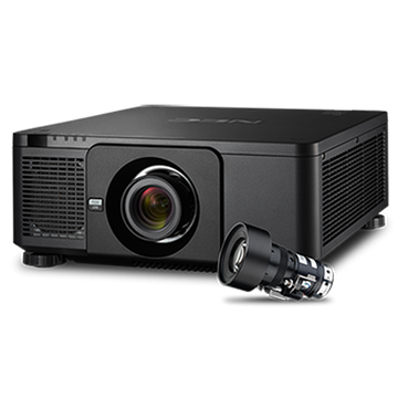 Picture of 10000 Lumens Professional Installation Laser Projector with Lens, Black
