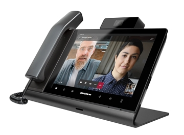 """Picture of Crestron Flex 10"""" Video Desk Phone with Handset for Microsoft Teams Software, International"""